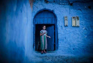 Little Girl from the Blue Pearl of Morocco
