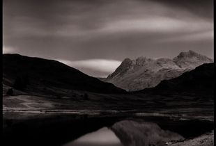 Blea Tarn and Langdale Pikes by moonlight | Lake District England | March 2016