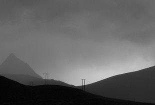 Telegraph line Lofoten Islands Norway