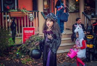 Tween on Halloween