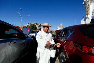 Baptism of cars in Copacabana