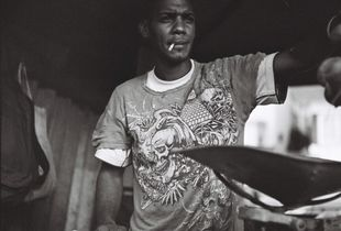 Fruit vendor at a local Cuban market.