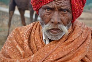 Old Rajasthani Man at Pushkar Camel Fair