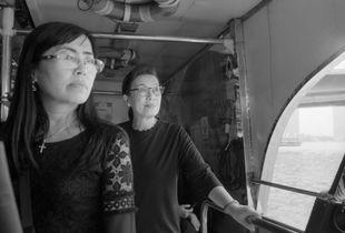 Thursday 26th, October, 2017.  Two women taking the river public transportation in Bangkok, Thailand.