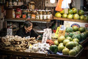 Traditional trading in modern Hong Kong