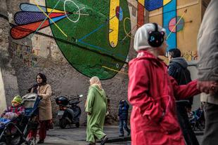 Tribute to Joan Miro, El Raval, Barcelona, December 2015