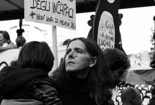 During the demonstration