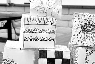 Zentangle Doodle Cubes
