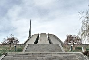 Tsitsernakaberd memorial in Yerevan. Completed in 1967, it is the main memorial dedicated to the Armenian genocide in Armenia.