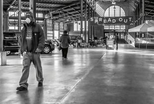 First Weekend of Pandemic Precautions, Detroit Eastern Market