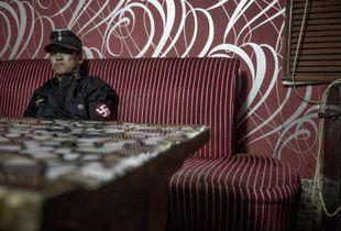Ariunbold Altankhuum, founder of the Mongolian neo-Nazi group Tsagaan Khass ('White Swastika'). Ulaanbaatar.