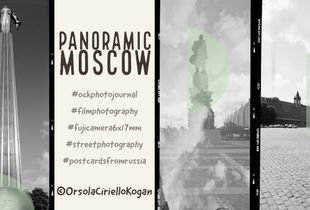 Vertical Panoramic Moscow Collage