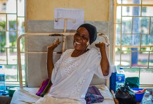 Elation in Jinja Hospital