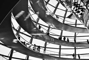 runway in reichstag dome