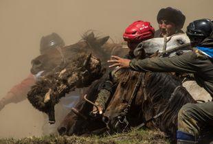 Kok-boru ethnic game tournament in Altai Republic.