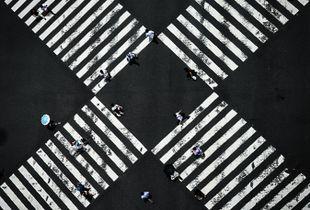 Ginza Crossing, Tokyo - Japan
