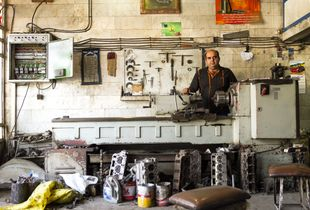 Abuzar at his Garage