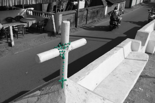 Rosary in green.