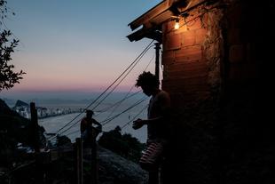 Morro do Vidigal, Rio de Janeiro, Brazil.