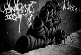 Stacked Tires, Olympic Blvd., Vernon, CA