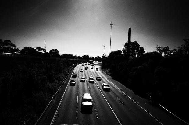 Eastern Freeway, Melbourne, Australia.