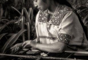 Backstrap Loom Weaver, Magdalenas, Chiapas