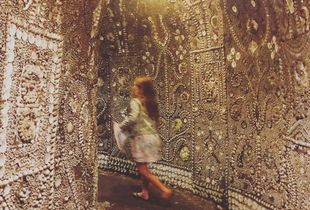 Tilly in the Shell Grotto