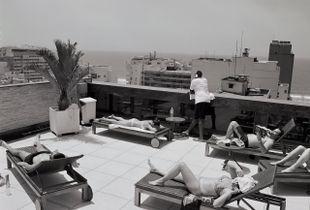 Rio, Brazil hotel rooftop.