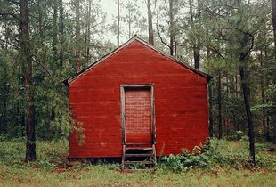 Red Building in Forest, 1983