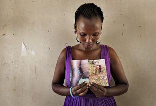 Mireille, 34, from Burundi, mother of four, refugee at Kakuma camp (Kenya) since October 2015