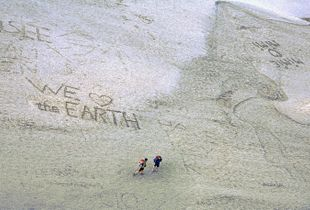 We Love the Earth (Mont Saint-Michel, France)