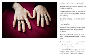 Anastasia and her rings, Verona, April 2014