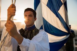 Greek Presidential Guard in Acropolis