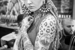 Morgin Riley at Philadelphia tattoo convention