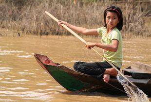 Girl in Boat (Cambodia)