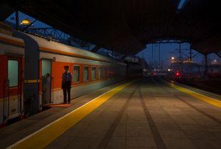 """THE BEIJING RAILWAY STATION PLATFORM,' CHINA 2014"