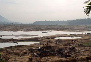 Bangladesh, along the river