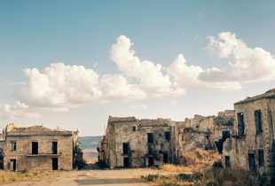 Poggioreale Town, Belice Valley, Sicily.