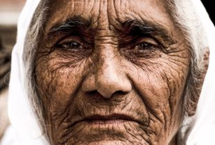 Old lady, India