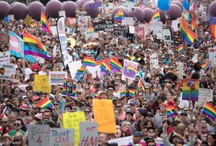 100,000 Protesters at #RESISTMARCH, Los Angeles, June 10, 2017