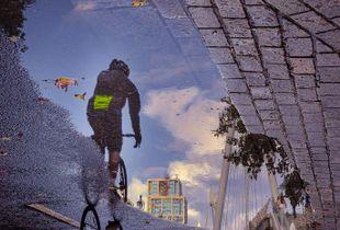 Bike and puddle