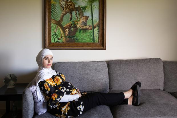 Reem, 9 Months Pregnant with Sohan