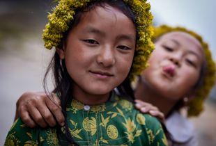 flower pickers, Ha Giang, Vietnam