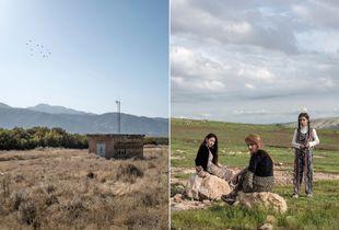 Land,Marivan,Iran 2016 (left)Weekend,Duhok,Iraq 2017(right)