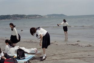 'at the beach'