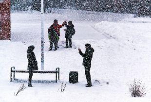 Snow photo session
