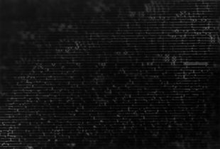 "Source code II, 2018, luminogram, gelatin silver print, 16""x12"""