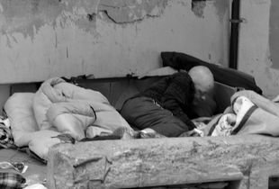 Homeless Person's Place to Sleep