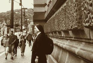 Alone on street