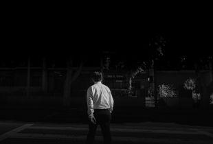 Man Crossing L.A. Street